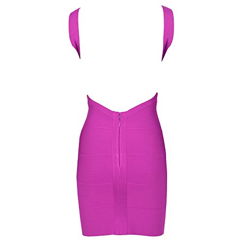 Sexy Backless Bandage Dress Strap Hlbandage Violet Bodycon Spaghetti Women's thxBQrCsd
