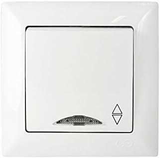 Doppel-Wechselschalter Unterputz Schalter Lichtschalter Cremeweiß Visage Gunsan