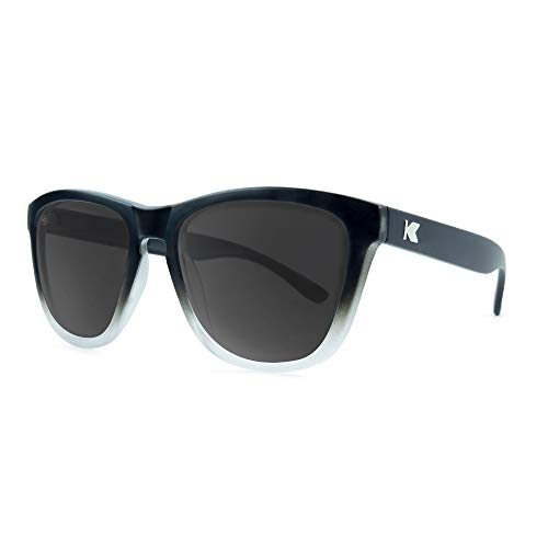 Knockaround Premiums Unisex Sunglasses With UV400 Protection, Black And White Frames/Black Lenses (List Sunglasses Brand)