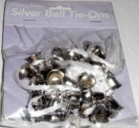 Wedding Silver Bell Tie-Ons, 24 Bell Pairs