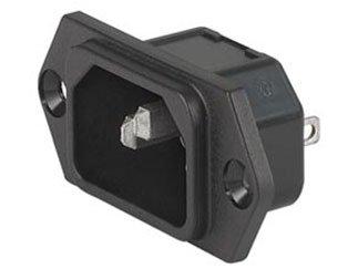 SCHURTER 6100.3200 6100 Series 4.8 x 0.8 mm Terminal 250 V 10 A Screw On Power Entry Module - 10 item(s)