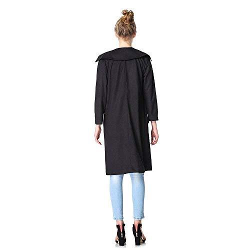 Casual Classiche Manica Cappotto Baggy Primaverile Trench Autunno Donna Camoscio Outerwear Prodotto Bavero Eleganti Lunga Donne Giacca Colour 3 Plus Moda Vintage 44z7wvq