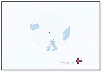 Amazon.com: Map Of Faroe Islands - Classic Fridge Magnet ...