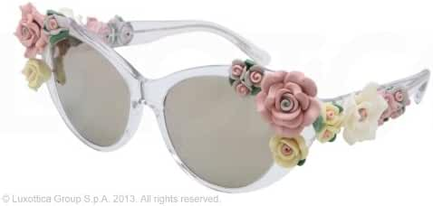 Dolce&Gabbana DG4180 Sunglasses-656/6G Crystal (Brown Mirror Gold Lens)-59mm