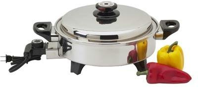 Precise Heat 3-1/2-Quart Surgical Stainless-Steel Oil Core Skillet by Precise Heat