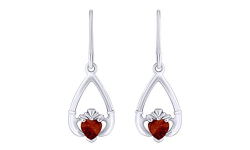 - Claddagh Drop Earrings in Gold Over Sterling Silver By AFFY
