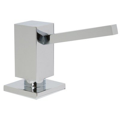 Mountain Plumbing MT106 Square Soap Dispenser with Plastic Bottle Finish: Brushed Nickel