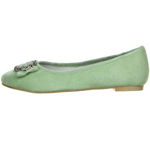 ... Vista Damen Trachtenschuhe Almhaferl Ballerinas grün Grün ...