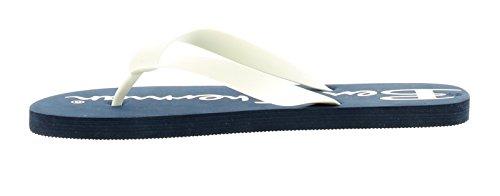 Hombre/hombre de dedo, Sin Cordones Sandalias con Ben Sherman De Marca Plantilla ideal para para ir Informal Verano Look - Azul Marino/blanco - GB Tallas 6-10