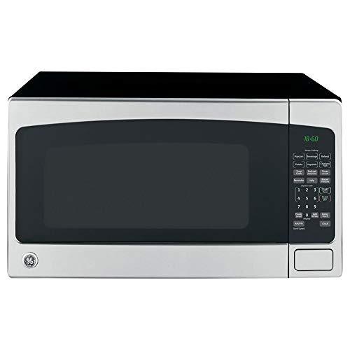 GE 2.0 Cubic Foot Countertop Microwave Oven, Silver (Renewed)