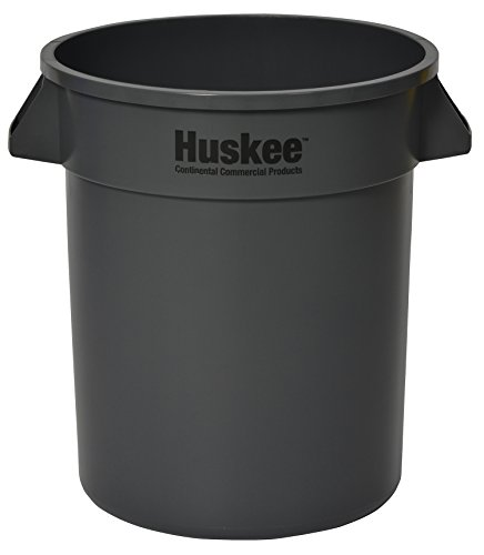 - Continental 2000GY, Huskee Grey Round Receptacle, 20 gallon Capacity, 19-1/2