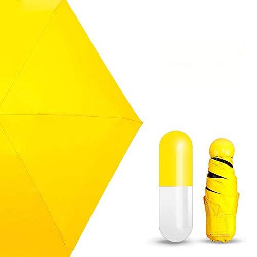 Compacta Cápsula Mujeres nbsp; Sombrilla Amarilla Diseño Pequeñas nbsp;Sombrilla Sombrilla nbsp; la Sombrillas Lluvia Plegables Cinco de AqxwPXE