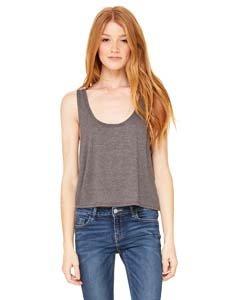 Bella T-shirt Tank Top (Bella Canvas 8880 Ladies 3.7 Oz. Boxy Tank Dark Grey Heather Small)