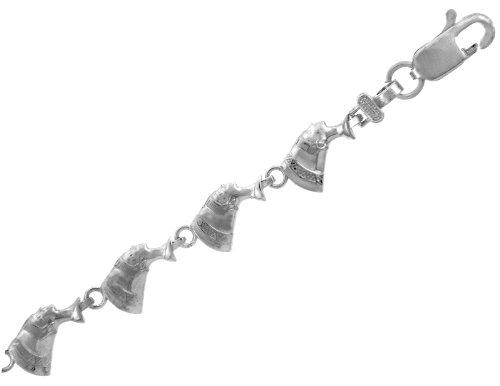 Petits Merveilles D'amour - 10 ct Or Blanc Bracelet - Cleopatra Bracelet