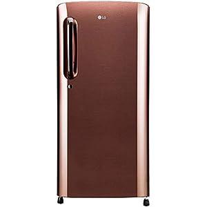 LG 190 L 4 Star Inverter Direct-Cool Single Door Refrigerator (GL-B201AASY, Amber Steel)
