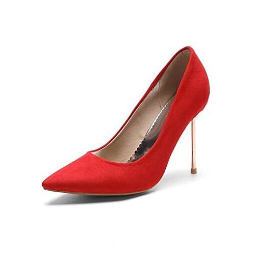 QOIQNLSN Zapatos De Mujer PU (Poliuretano) Confort Primavera Tacones Stiletto Talón Negro/Rojo / Verde Red