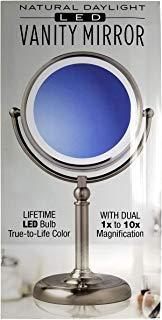 Blackstone VM-2018 Vanity Mirror, one Size, Brushed Nickel Art Deco Steel Vanity