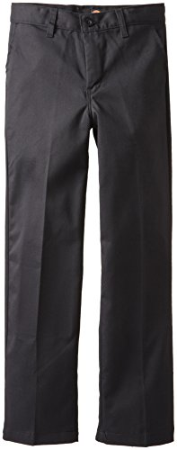 Dickies Khaki Big Boys' Flex Waist Stretch Pant, Black, 18 -