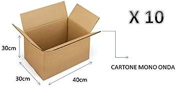 10 cajas de cartón de 40 x 30 x 30 cm - Embalaje de cartón de una ...