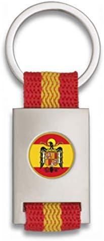 Tiendas LGP Albainox- Llavero Bandera de ESPAÑA y Chapa Escudo Aguila de San Juan, Plateado: Amazon.es: Equipaje