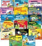 Froggy 17-Book Set (Froggy . . . Bakes a Cake, Eats Out, Gets Dressed, Goes to Bed, Goes to School, Goes to the Doctor, Learns to Swim, Plays in the Band, Plays Soccer, Rides a Bike, Froggy's . . . Baby Sister, Best Christmas, Day with Dad, First Kiss, Halloween, Sleepover, & Let's Go Froggy!)
