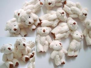4 Teddy Bear (10pc Craft Mini Plush Teddy Bear Doll 4cm (H139-White) US Seller Ship Fast by www.embellishmentworld.com)