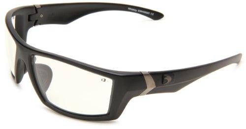Bobster Whiskey Ballistic Sunglasses, Black Frame/Clear Anti-fog Lens (Bobster Womens Sunglasses Motorcycle)