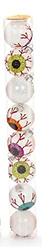 Darice Halloween Eyeball 45mm Plastic Mini Ornaments Set of 8 -