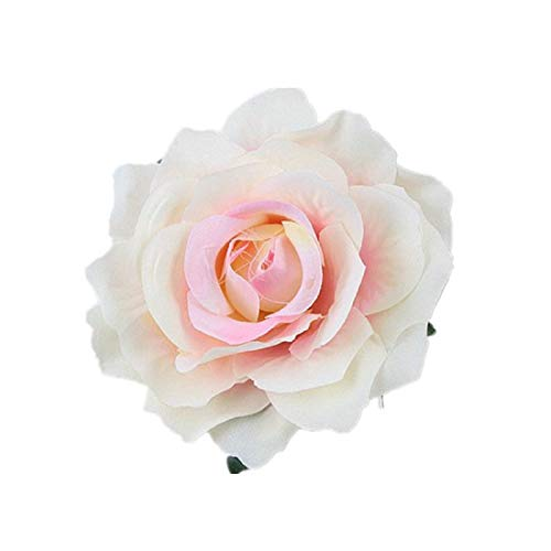 NanaVivi Rose Flower Hair Clip Festival Hair Clips and Pin Party Brooch Wedding Hair Accessories (Ivory Pink) ()