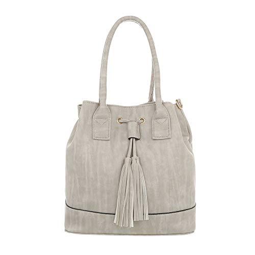 al One de Size Design gris Sintético Bolso mujer para claro hombro Ital Gris POEZgxcngW