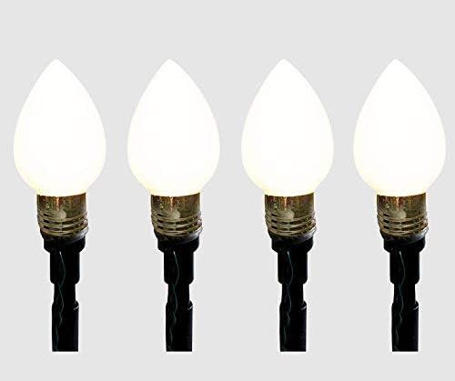 Winter Wonder Lane 10 lit White Pathway C7 Bulbs 16.5 ft 5 m , 4-Pack