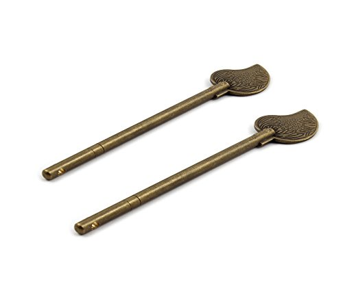 Pin Leaf Tone - Antrader Household Metal Leaf Shape Retro Style Cabinet Key Latch Barrel Bolt Locking Pin Bronze Tone Pack of 2