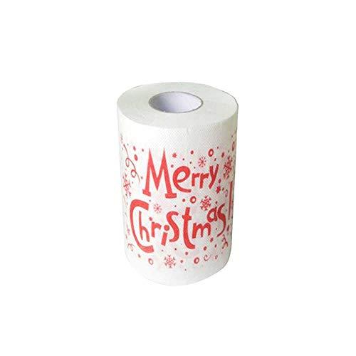 SZFREE Creatief toiletrolpapier kerstpatroon bedrukt toiletpapier nieuwigheid kerstman hygiënische bedrukte rol…