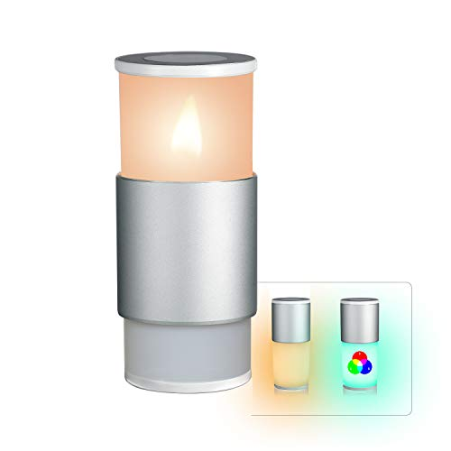KEVORD Table Lamp and Flameless LED Tea Light Candles 2-in-1, Touch Sensor Bedside Lamps Tealights with Dimmable Warm White Light & Color Changing RGB for Bedrooms, Living Room, Coffee Shop, Bar ()