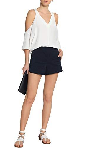 Tibi Pinstriped Seersucker Shorts in Midnight Blue (6)