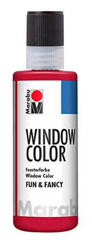 Marabu Window Colour Fun and Fancy Paint 80ml - 038 Ruby Red