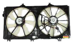 (TYC 621990 Lexus ES350 Replacement Radiator/Condenser Cooling Fan Assembly)