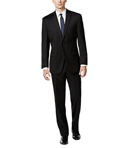 Suit Breasted Single Calvin Klein - Calvin Klein Men's Modern-Fit Single-Breasted Wool Suit (44/38W, Black)