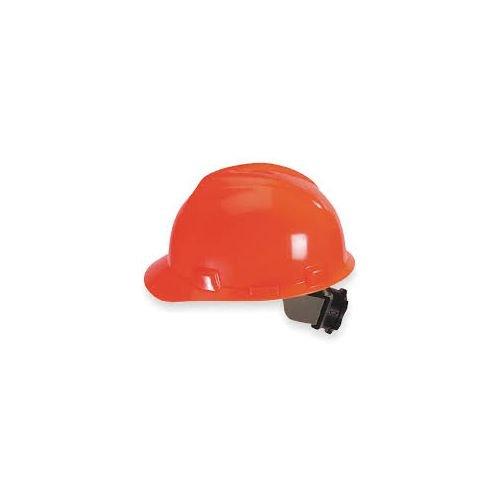 Plastic MSA 38.35 fl 488146 Hi-Viz Orange V-Gard Polyethylene Slotted Cap Style Bump Cap with Fas Trac 4 Point Ratchet Suspension 1 x 1 x 1 English Mine Safety Appliances oz