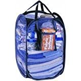 Pop-Open Light Duty Hamper Easy Carry Mesh Hamper 14x14x22 Approximate