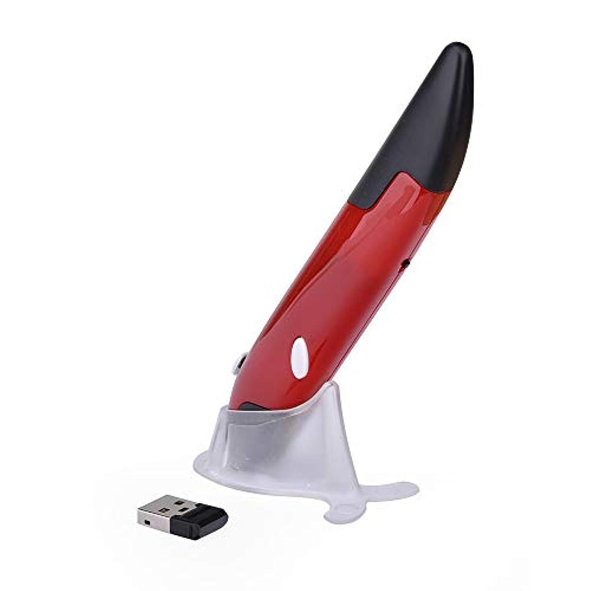 [해외] 2.4GHZ wireless 광학식 마우스 펜 최대DPI 1000 레드