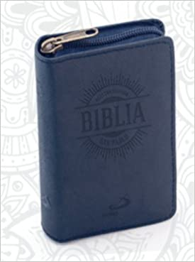 Nuestra Sagrada Biblia Azul Mini Estuche Cremallera: SAN ...