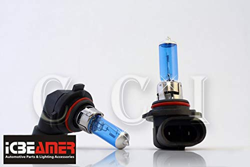 ICBEAMER 9006 HB4 9012 12V 55W Direct Replace Fit Auto Vehicle Factory Halogen Light Bulbs [Color: Super White]