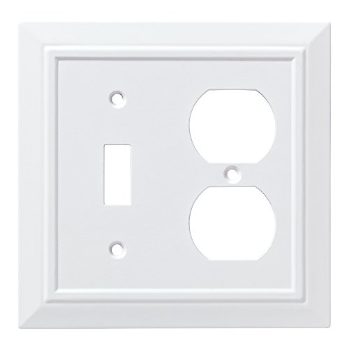 - Franklin Brass W35245-PW-C Classic Architecture Switch/Duplex Wall Plate/Switch Plate/Cover, White