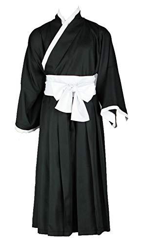 Chong Seng CHIUS Cosplay Costume Kurosaki Ichigo Shinigami Black Male Kimono Version 2 -