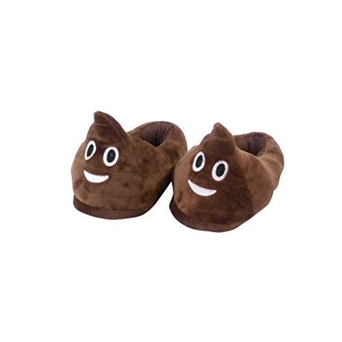 LUOEM Funny Poop Slippers Non Slip Winter House Slippers Soft Plush Slippers 28.5cm