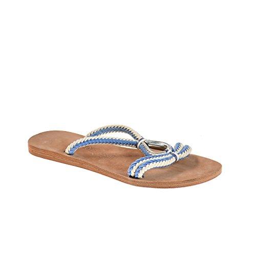 Lottusse Damen Sandale Blau Weiß