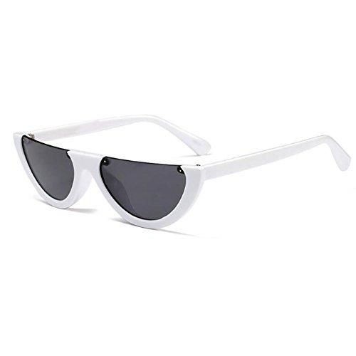 de soleil classique pour demi Huicai lunettes Mod Eye hommes Style monture C7 Mod femmes Cat PwEE508q