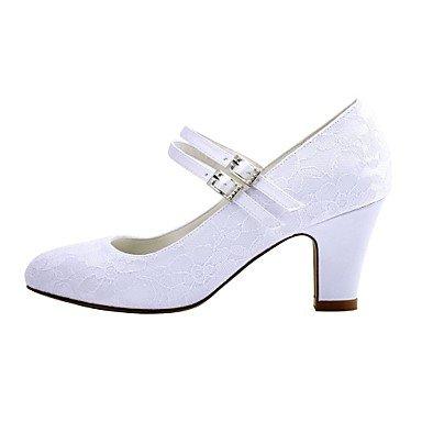 festa Desy base 2 nozze nbsp;3 amp; tacco avorio White cristallo raso primavera scarpe matrimonio 4in robusta di elasticizzato autunno da nbsp;in bianco di sera 2 4x8qaA4