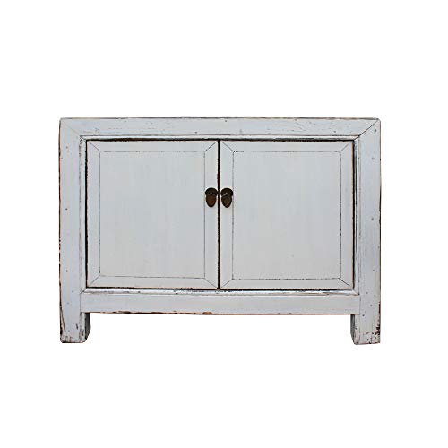 Oriental Simple Distressed Off White Credenza Sideboard Table Cabinet Acs5020 (Oriental Sideboard)